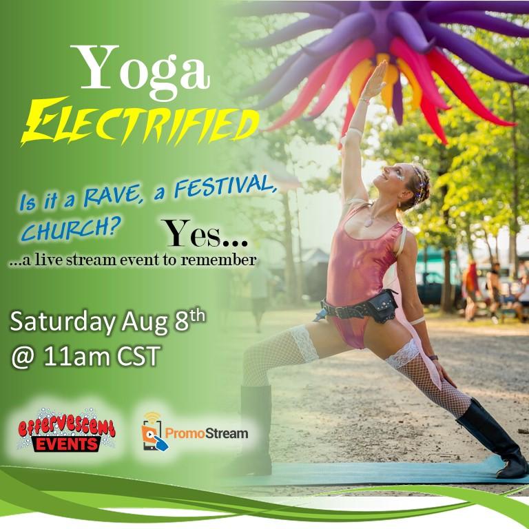 Yoga Electrified square
